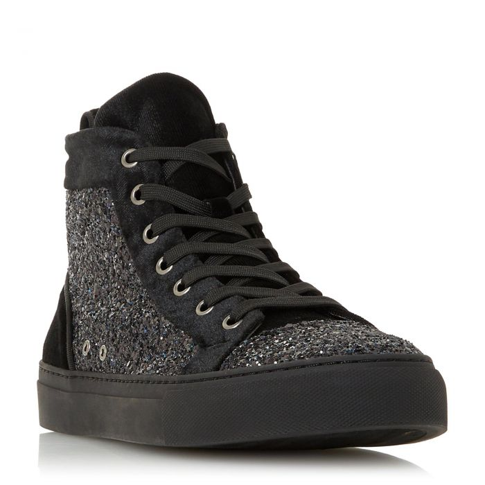 Image for Dune Mens VIRGIL Glitter High Top Lace-Up Trainer