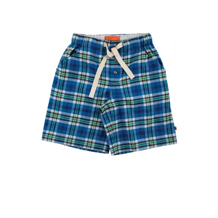 Image for Boys Blue Check Lounge Shorts