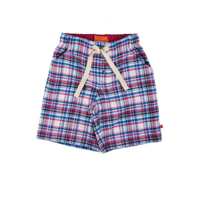 Image for Boys Red Check Lounge Shorts
