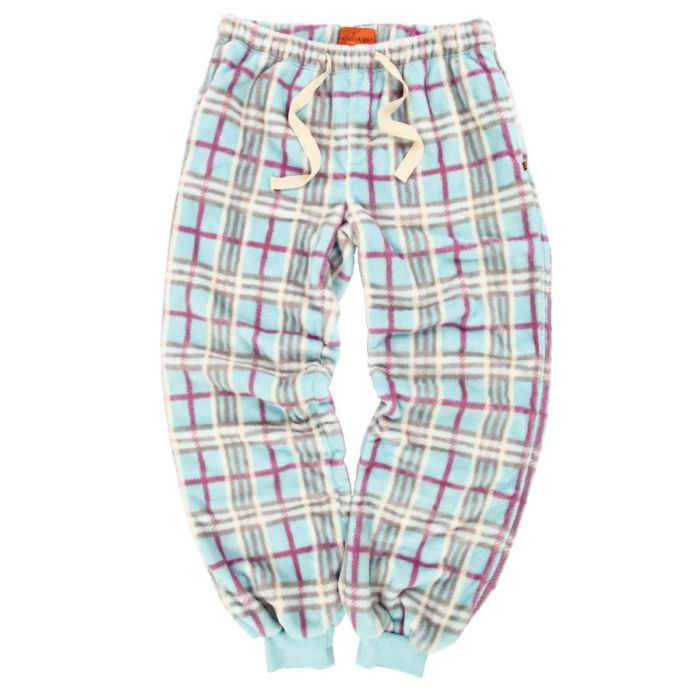 Image for Aqua soft fleece print check lounge pants