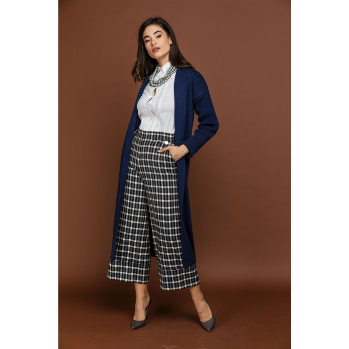 Image for Blue Check Culottes by Si Fashion