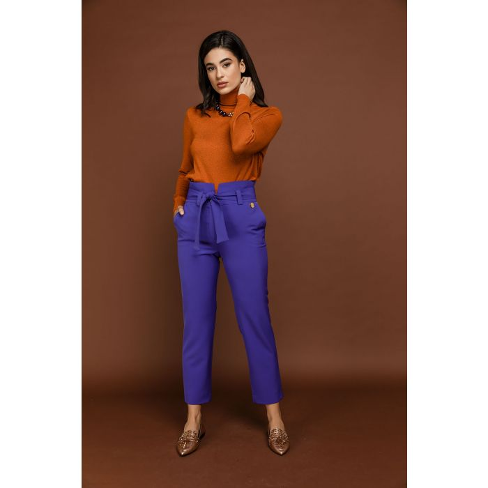 Image for Purple High Waist Pants by Si Fashion