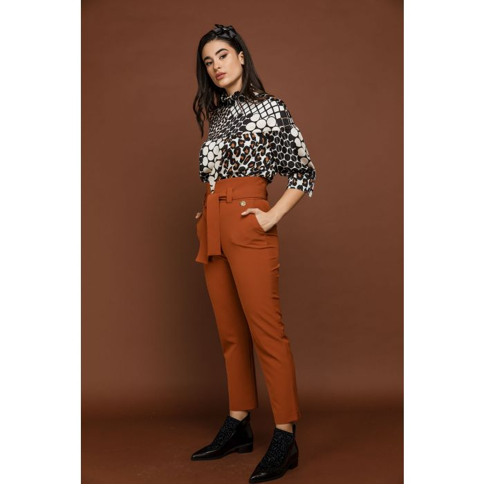 Image for Orange High Waist Pants by Si Fashion