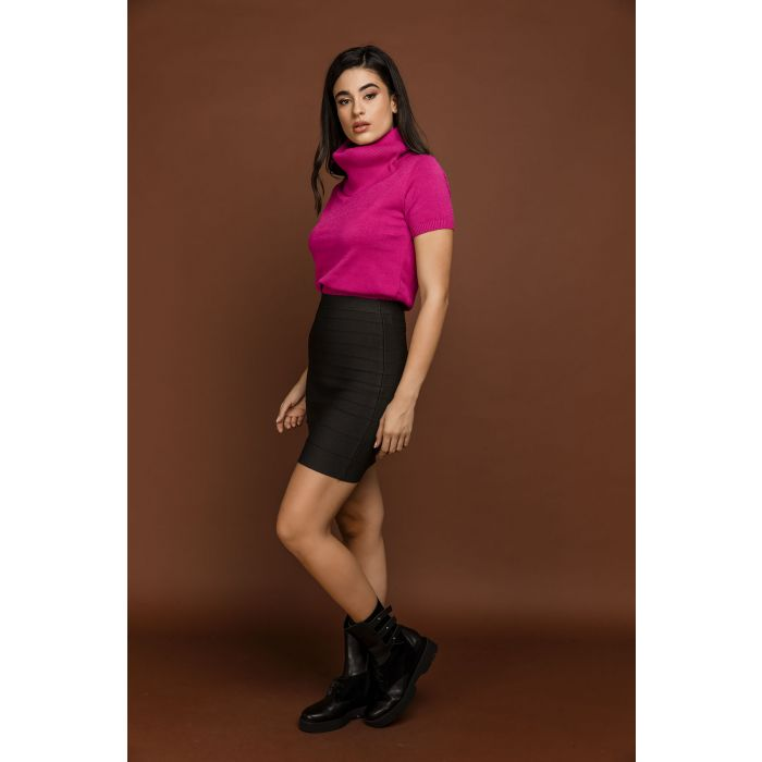 Image for Fitted Dark Grey Skirt by Si Fashion