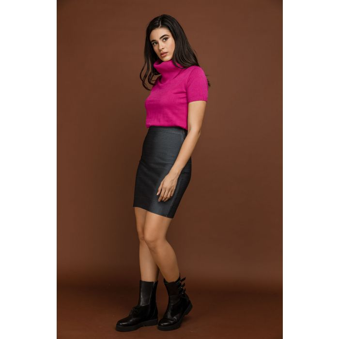 Image for Fitted Grey Skirt by Si Fashion