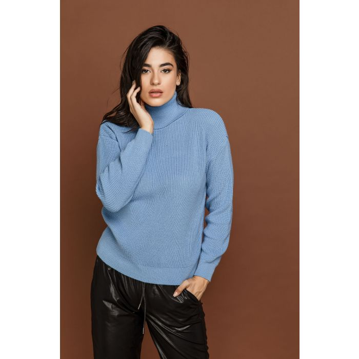 Image for Blue Turtleneck Pullover by Si Fashion