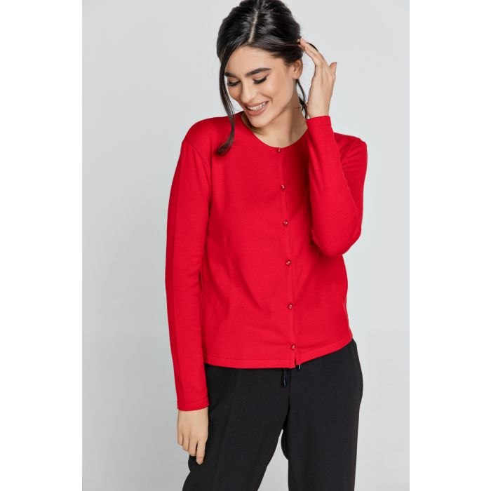 Image for Red Knit cardigan
