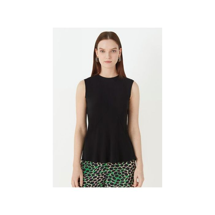 Image for Wavel Bias Seam Top - Black