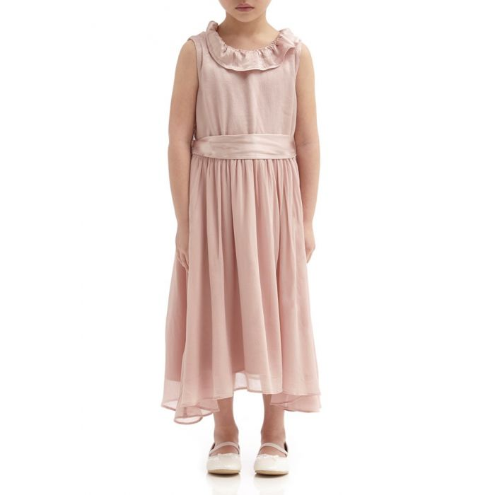 Image for Freya Boudoir Pink Satin Flower Girl Dress