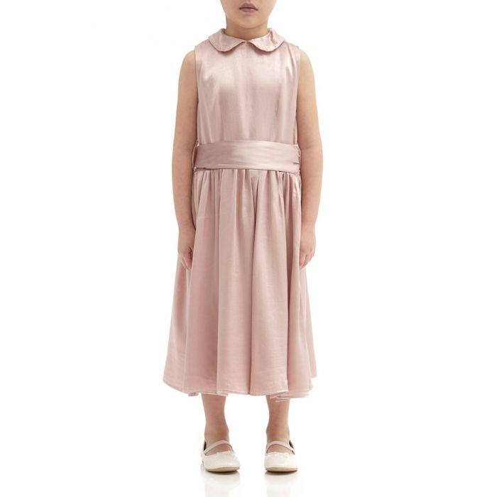 Image for Millie Boudoir Pink Satin Flower Girl Dress