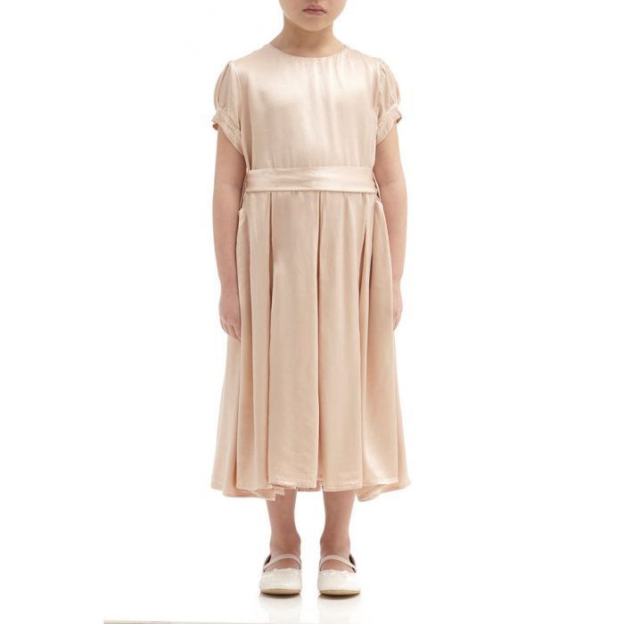 Image for Mia Oyster Satin Flower Girl Dress