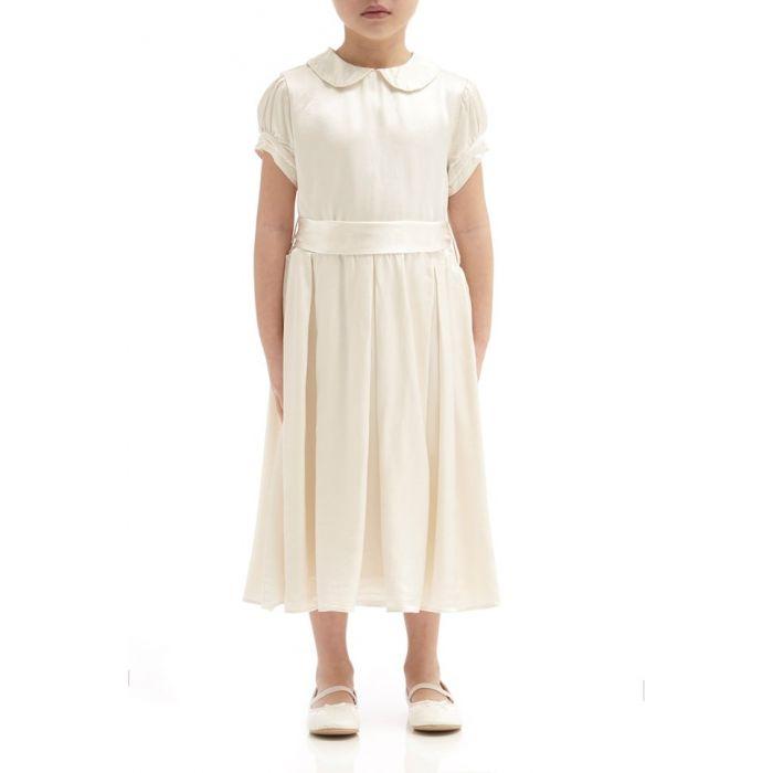 Image for Florence Ivory Satin Flower Girl Dress