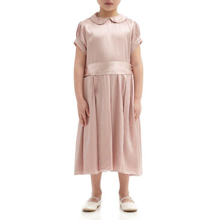 Image for Florence Boudoir Pink Satin Flower Girl Dress