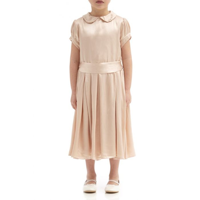 Image for Florence Oyster Satin Flower Girl Dress