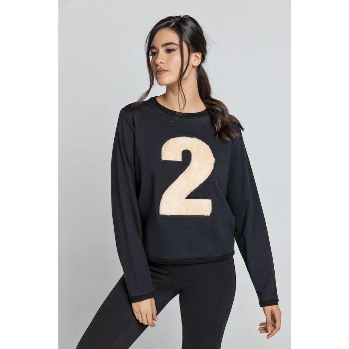 Image for Black Appliqué Sweatshirt