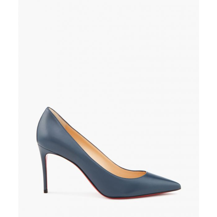 Image for Kate 85 blue leather heeled pumps