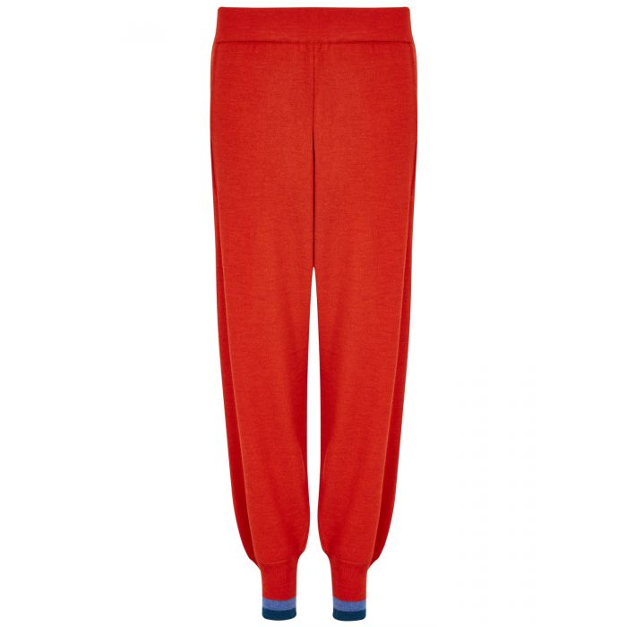 Image for Red chalet trousers