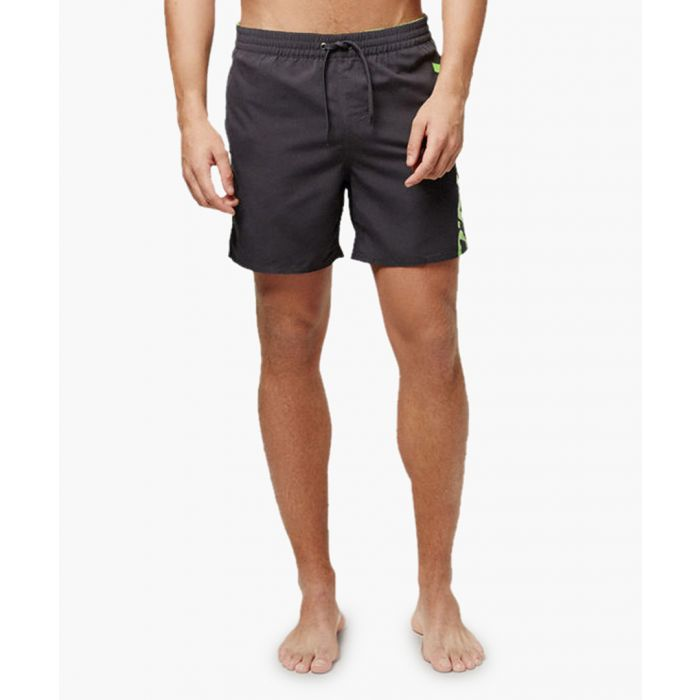 Image for Black logo printed shorts