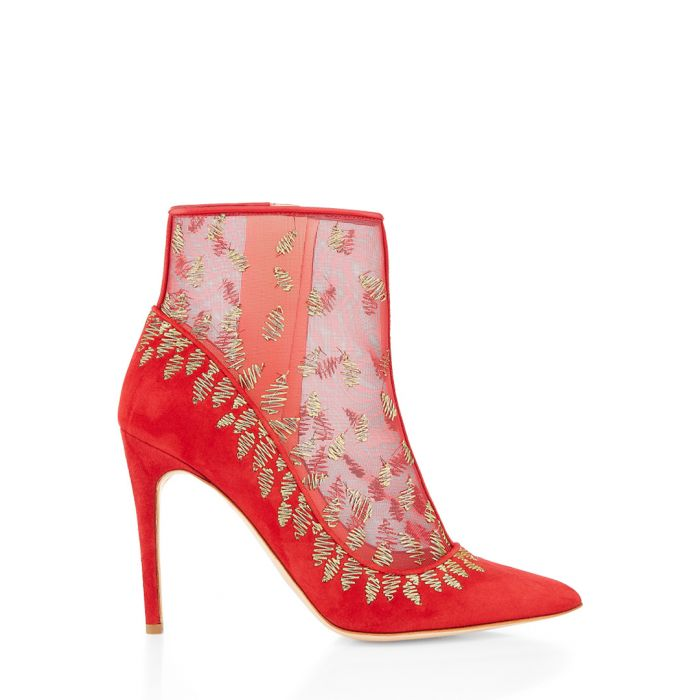 Image for Rosque red suede and mesh ankle boots