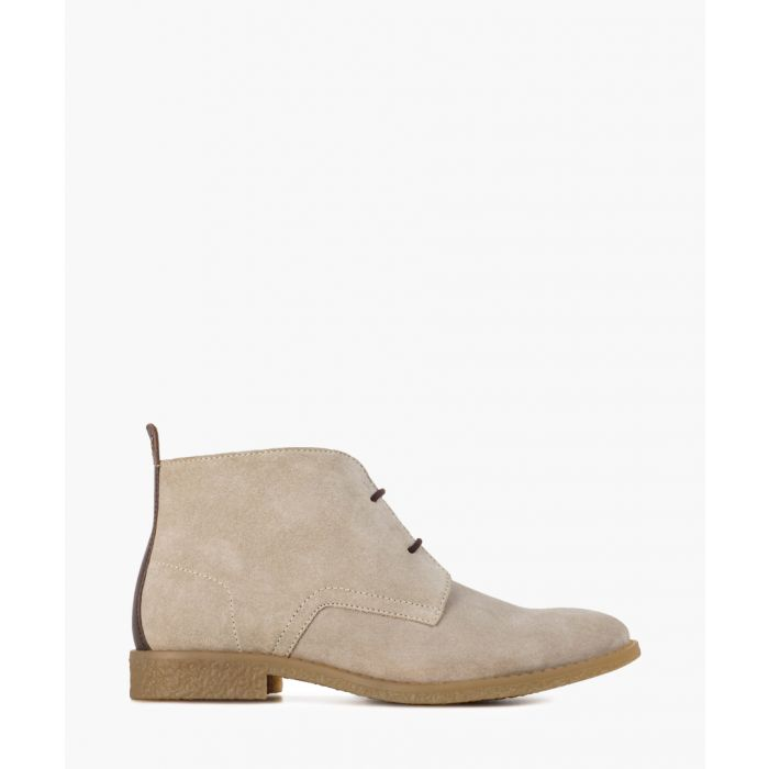 Image for Nude suede ankle boots