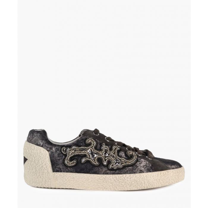 Image for Women's Nymphea brown leather sneakers