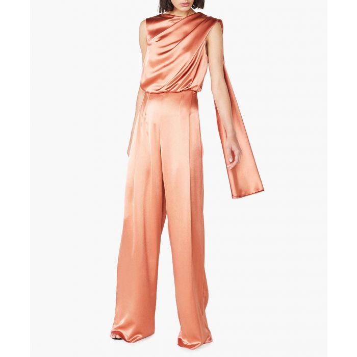 Image for Olympia ochre yellow satin jumpsuit