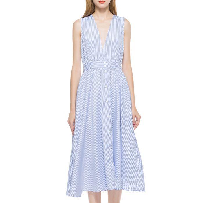 Image for Light blue sleeveless dress