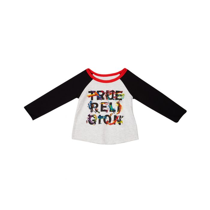 Image for Girls white slogan long sleeve top