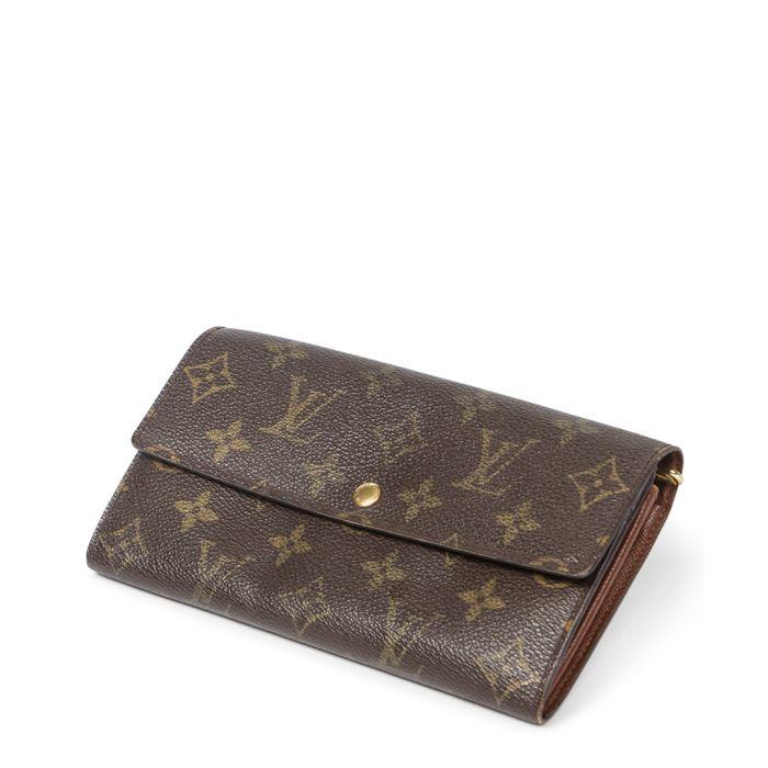 Image for Sarah brown canvas monogram purse