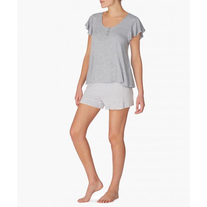 Image for 2pc Grey pyjama shorts set