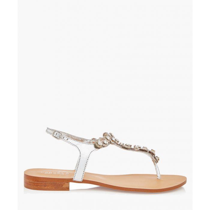 Image for Bebe silver leather embellished sandals