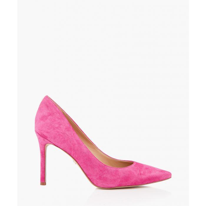 Image for Hazel retro pink suede court heels