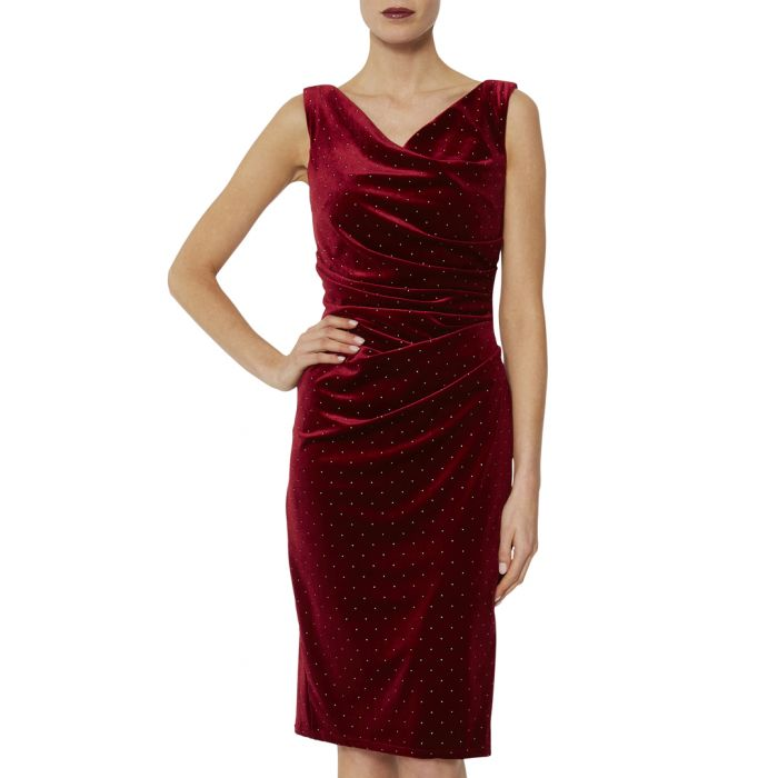 Image for Sonrisa wine velvet dress