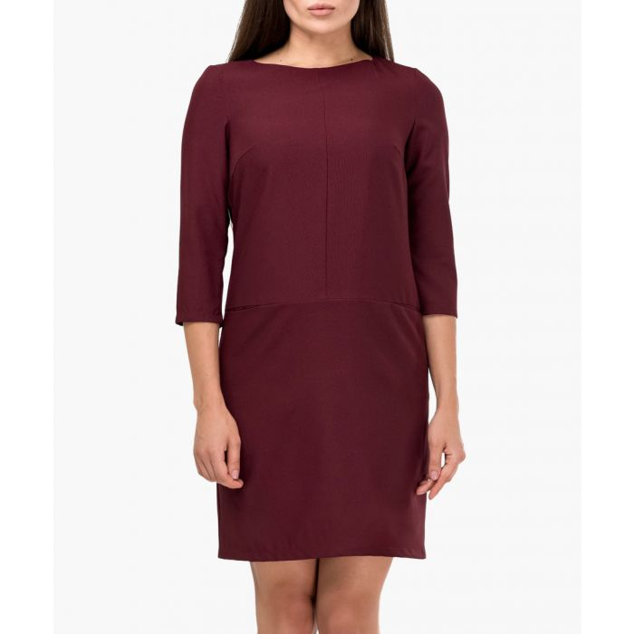 Image for Bordeaux red mid-length dress