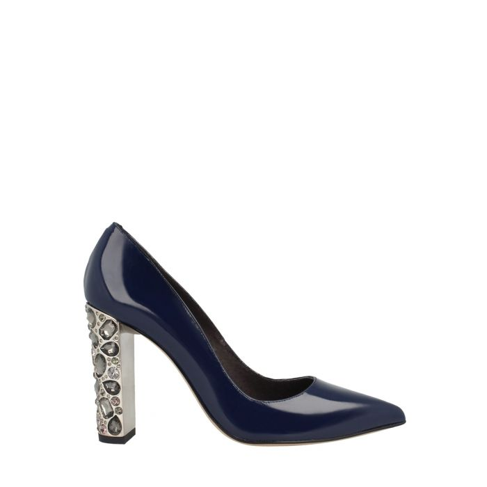 Image for Navy patent leather court heels