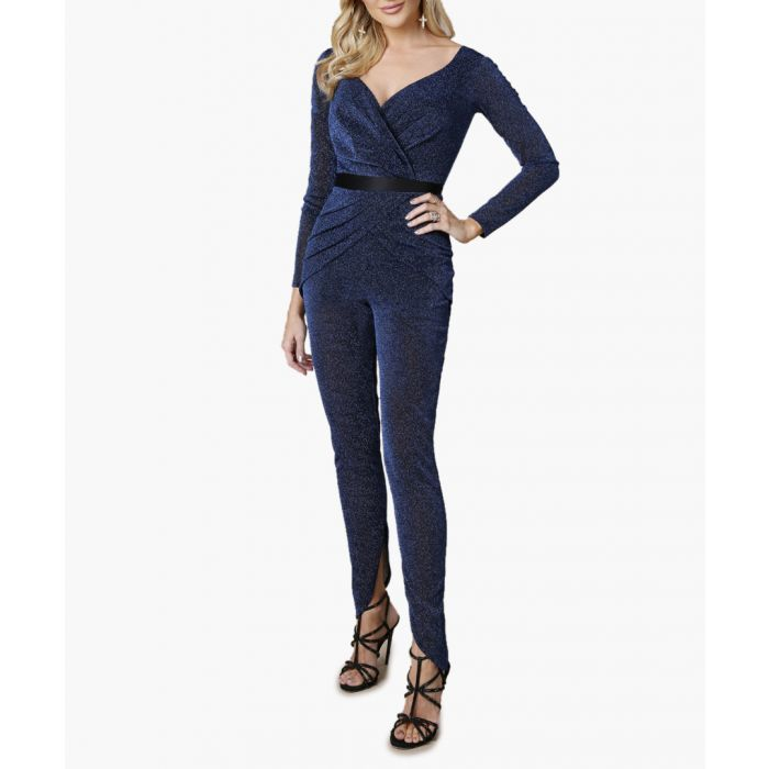 Image for Midnight glitter cross-over jumpsuit