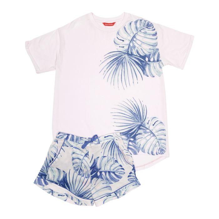 Image for Kids Isla pink palm print pyjama set