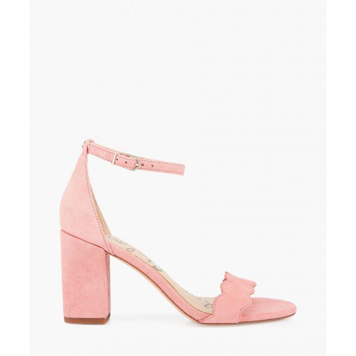 Image for Odila pink lemonade suede strappy heels
