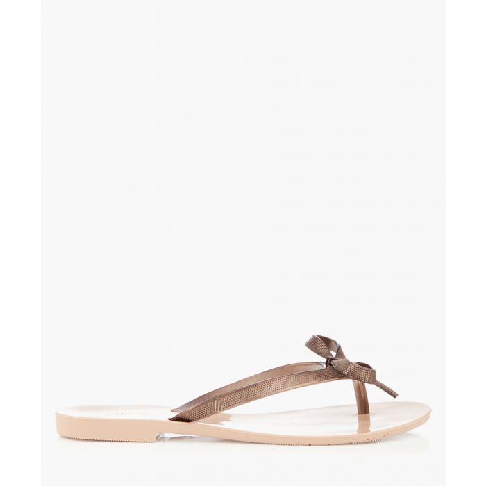 Image for Harmonic bronze-tone flip flops