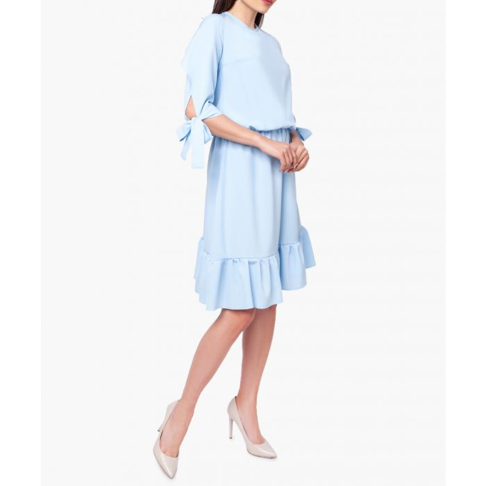 Image for Pastel blue ruffle hem dress