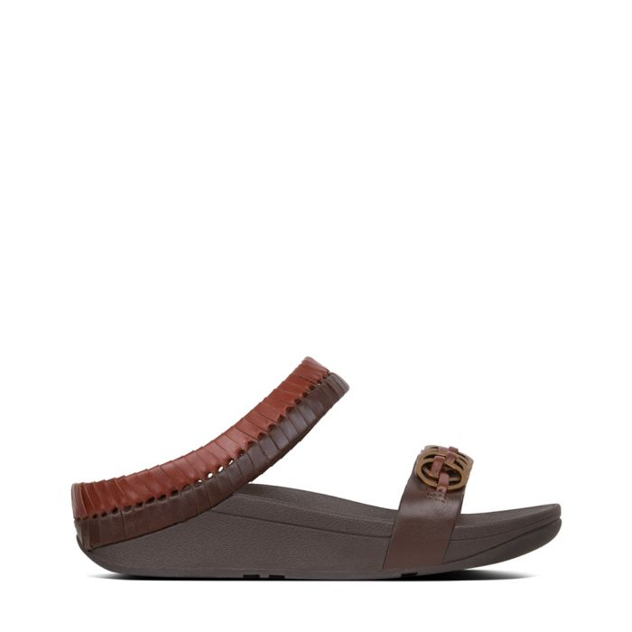 Image for Cirque cognac and tan leather sandals