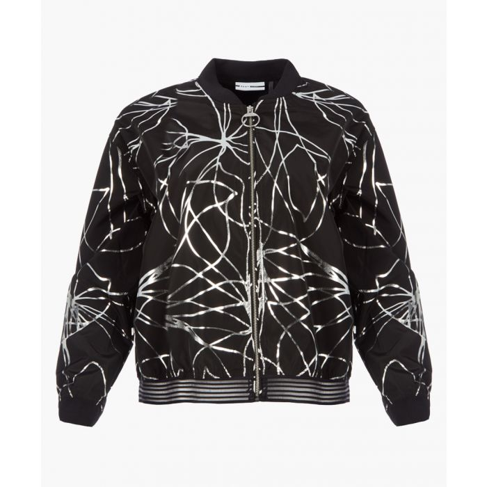 Image for Black and silver-tone foil print jacket