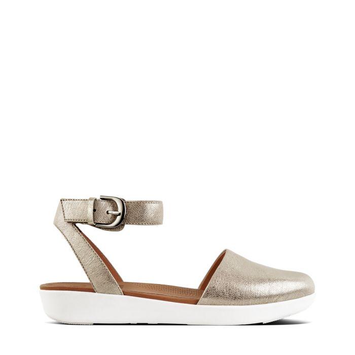 Image for Cova silver-tone closed-toe sandals