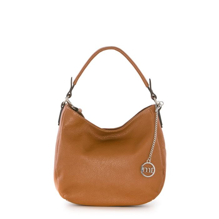 Image for Tan leather textured shoulder bag