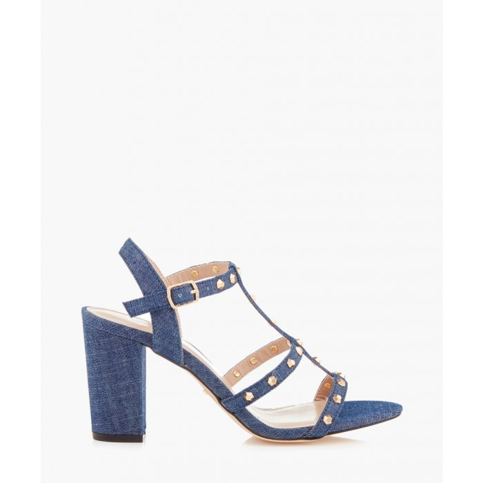Image for Kansas denim blue block heels