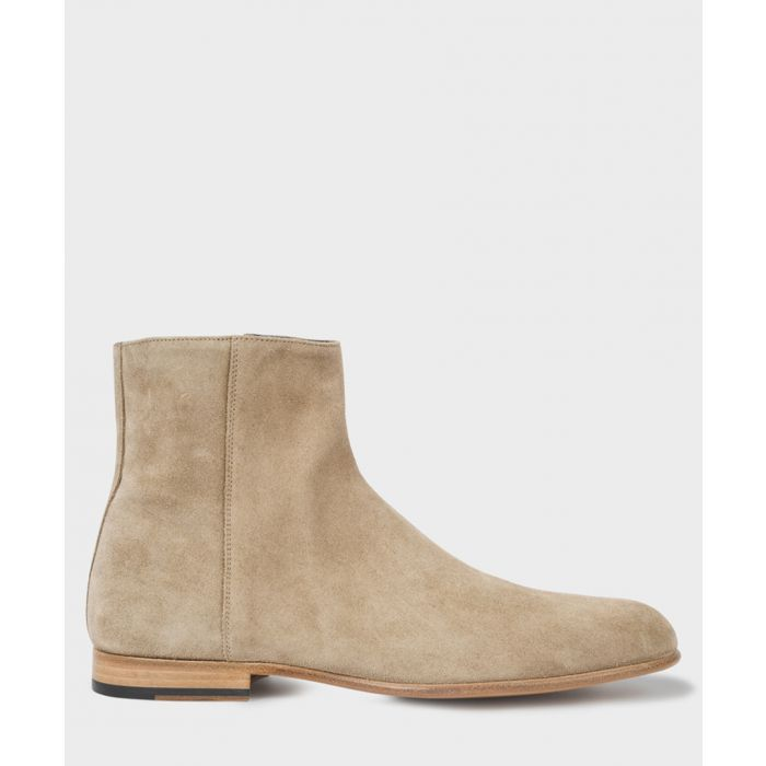 Image for Taupe suede boots