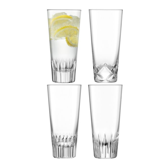 Image for 4pc Assorted-cuts mixer glass set