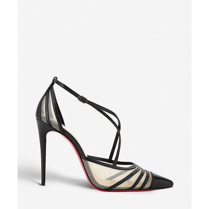 Image for Theodorella black leather pointed heels