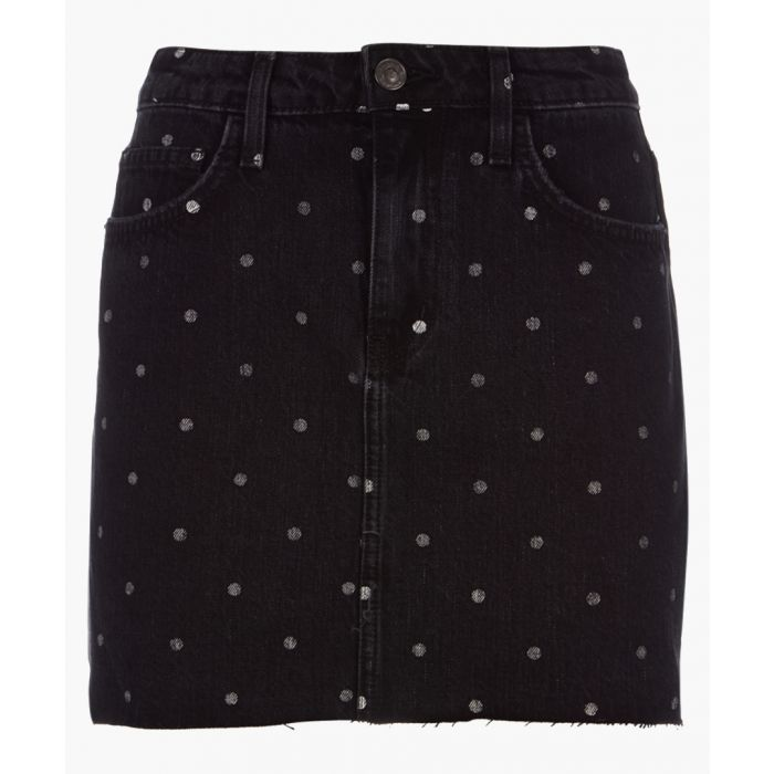 Image for The 5-Pocket cotton dotty mini skirt
