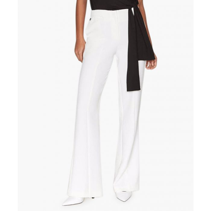 Image for Regent ivory flared trousers